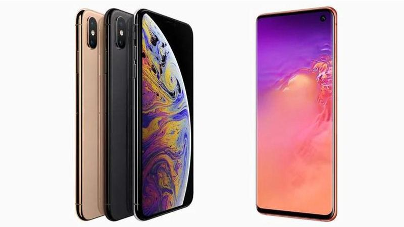 comparatif iphonexs vs s10